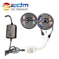 RGB IP20 Flessibile HA CONDOTTO La Striscia luce di striscia del led 2 m 3 m 4 m 5 m 6 m 10 m 3528 SMD non impermeabile led adattatore luce RGB telecomando set completo