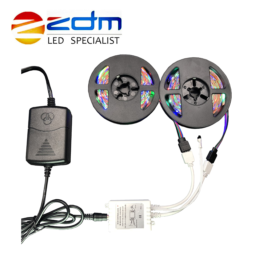RGB IP20 Flexible LED Strip led strip light 2M 3M 4M 5M 6M 10M 3528 SMD non waterproof led light adapter remote RGB full set 10m 5m 3528 5050 rgb led strip light non waterproof led light 10m flexible rgb diode led tape set remote control power adapter