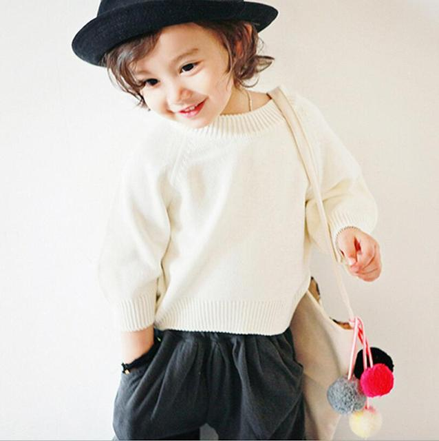 2017 Meninos Das Meninas Dos Miúdos Das Crianças Malha Pullovers Camisolas Jumper de Gola Alta Outono Inverno Outerwear Quente