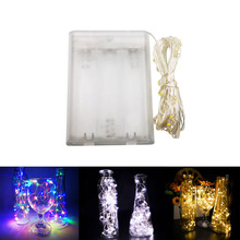 купить Fairy Lights LED String Lights New 1M 2M 5M 10M Silver Wire Battery Operated for Xmas Garland Party Wedding Decoration Christmas дешево