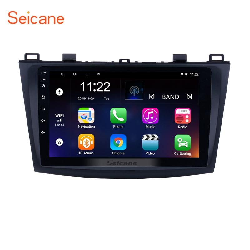 Garde-Seicane Android 7.1 GPS 9 pouces | Autoradio pour 2009 2010 2011 2012 MAZDA 3, lecteur multimédia, unité de tête avec lien miroir