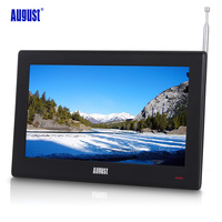 August DA100D 10inch Portable TV with Freeview Digital LCD Television for Car,Kitchen,Beside Table Digital TV for DVB T/DVB T2