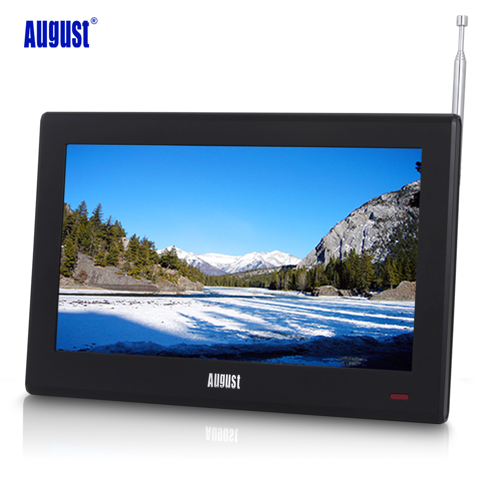 August DA100D 10inch Portable TV with Freeview Digital LCD Television for Car,Kitchen,Beside Table Digital TV for DVB-T/DVB-T2
