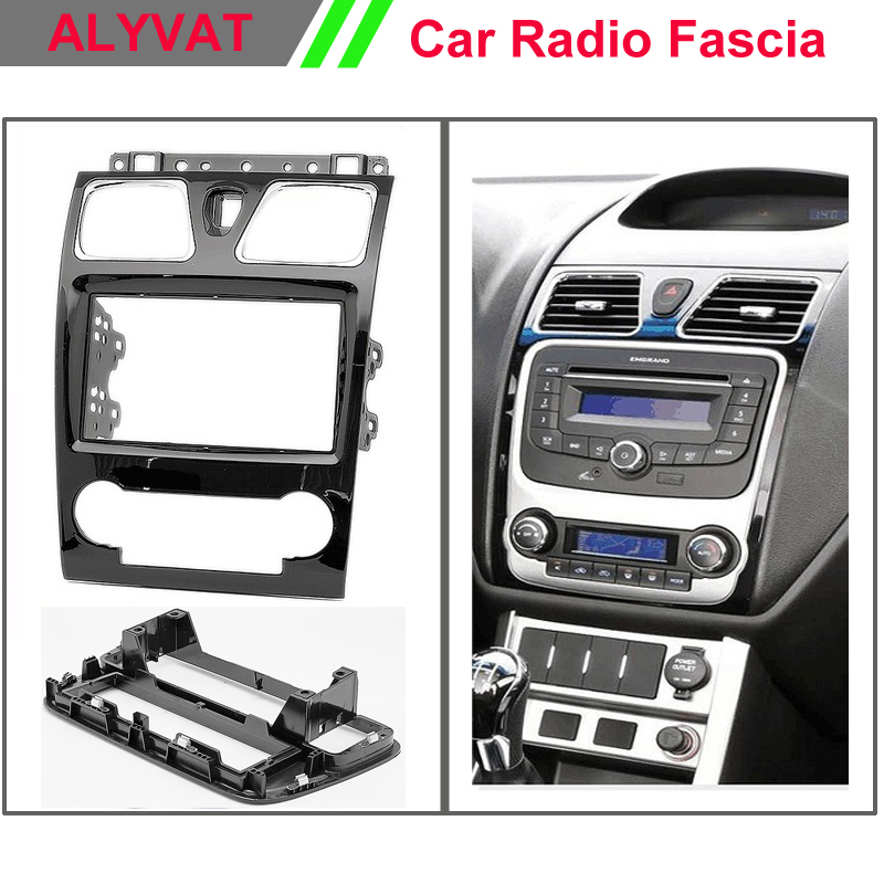 Free Shipping Car Radio Audio Dash Frame Fascia For GEELY Emgrand EC7 2008+ Stereo facia surround install trim fit Dash Kit car radio dvd cd fascia panel for faw oley 2012 stereo dash facia trim surround cd installation kit