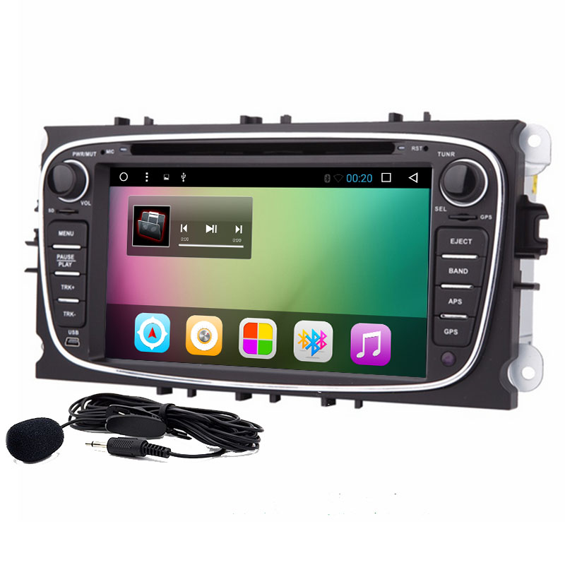 2 Din Android 6.0 Core Car DVD Player For FORD Mondeo S-MAX Connect FOCUS 2 2008-2011 With Radio GPS 4G LTE Network DVR DAB SD