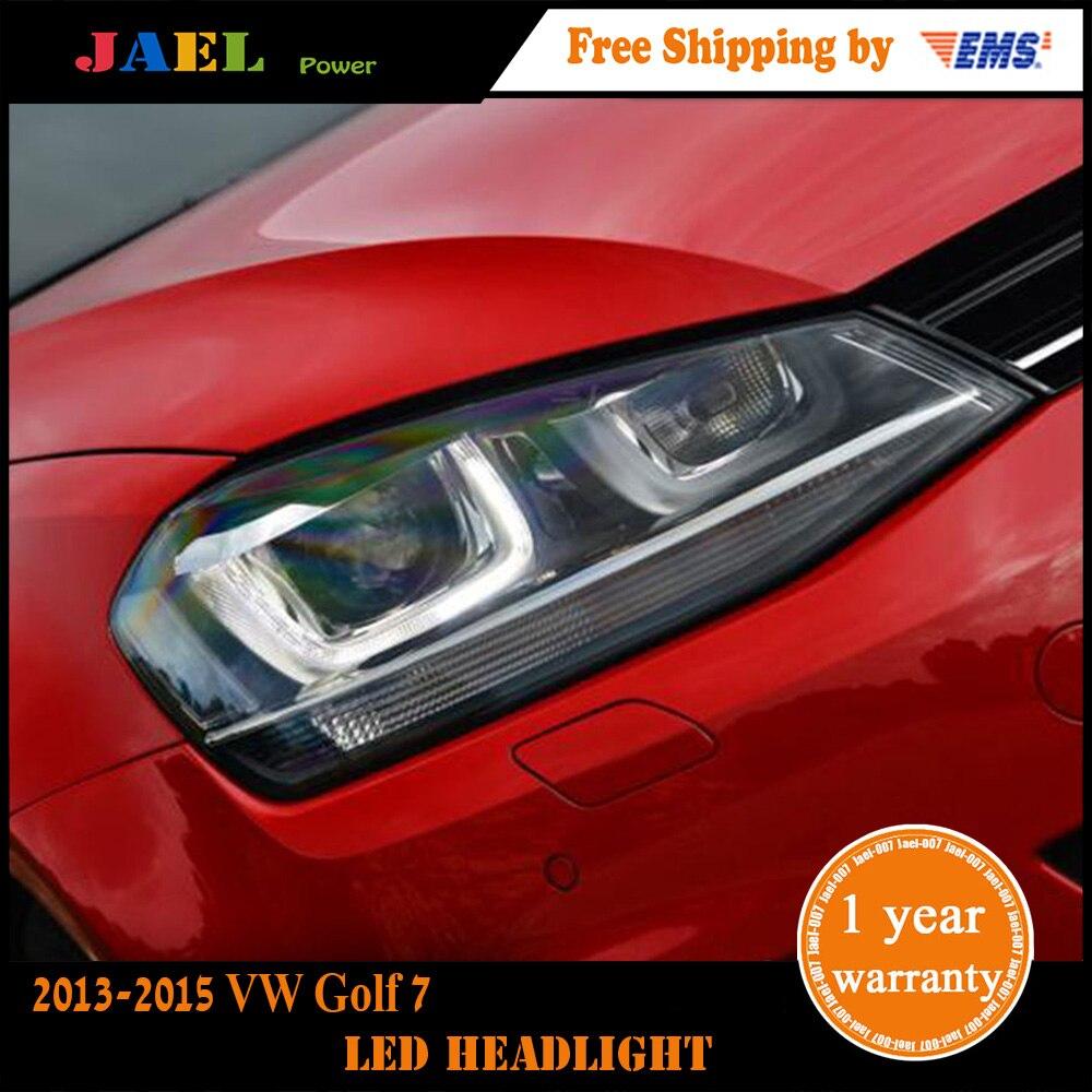 JAEL GTI Design Head Lamp for VW Golf 7 Headlights Golf7 Mk7 GTI LED DRL High Low Beam Parking Fog Lamp