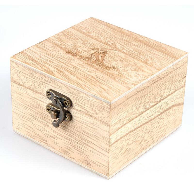 Ultra Thin 6mm BOBO BIRD Lover's Watch Luxury Stylish Wood Quartz Wristwatches Timepiece reloj hombre with Gift Box V-S16