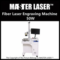 Lower Price 50W Fiber Portable 220V Input Raycus Laser With DELL DESKTOP Computer Small Engraving Machine
