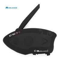 MIDLAND Универсальный BT следующий 1600 м Bluetooth мотоциклетные Шлемы гарнитуры домофон Водонепроницаемость домофон USB зарядки