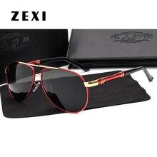 ZEXI Oversized Aviator Sunglasses Men Luxury Brand Polarized Mercedes Glasses Male Driving Fishing Glasses Goggles NS0046 очки мерседес