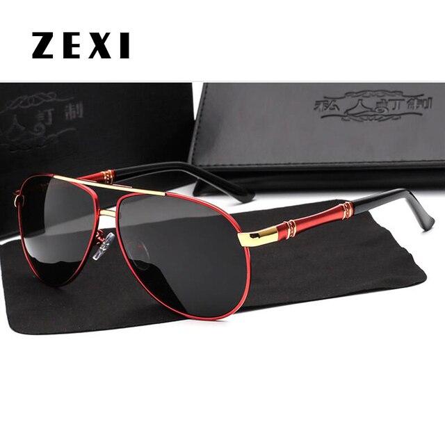 f2e49b5fbe220 ZEXI Surdimensionné Aviator lunettes de Soleil Hommes Marque De Luxe  Polarisées Mercedes Lunettes Mâle Conduite Pêche