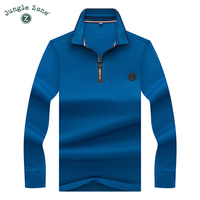 POLO Shirt Men Brand Clothing Solid Color Zipper Collar Polo Top Quality Autumn And Winter Casual