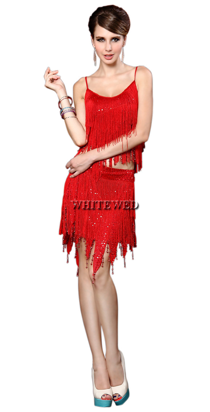 Red Flapper Dresses