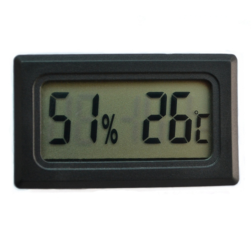 Pet Reptile Thermometer Hygrometer Temperature Control Product Fish Tank Embedded Mini Type Electronic Digital Display AB
