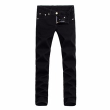 Small stretch man Jeans men Casual pants brand pants Little feet pants designer trousers straight boy