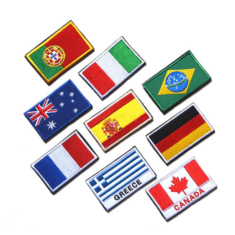 Embroidered Country Flag Army Badge 3d Tactical Military Badges Fabric Cloth Combat Armband World Flag Badges Apparel Sewing & Fabric