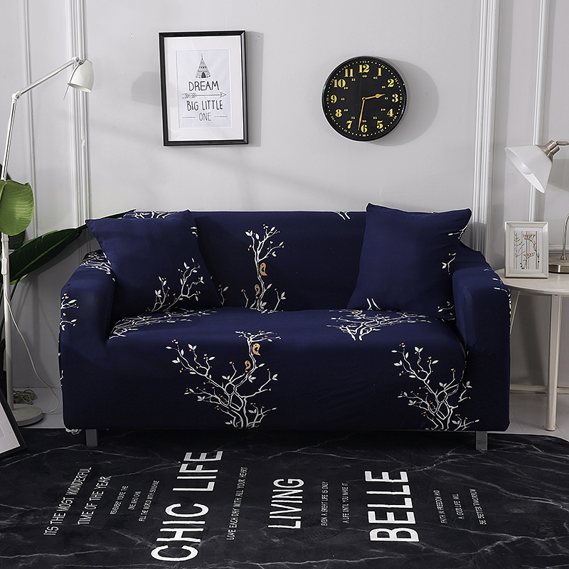 Floral Heart Printed Sectional Sofa Cover For Living Room