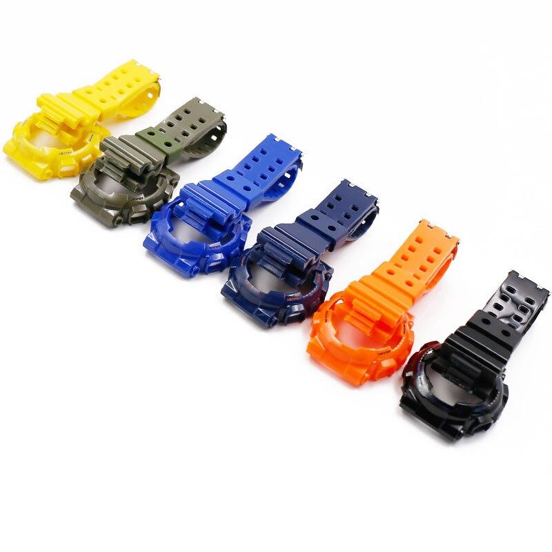 Assista Acessórios pulseira de Resina caso para Casio GA110 G-SHOCK relógio com caixa de luz brilhante 100 GD120 100 GLS100 assistir cinta
