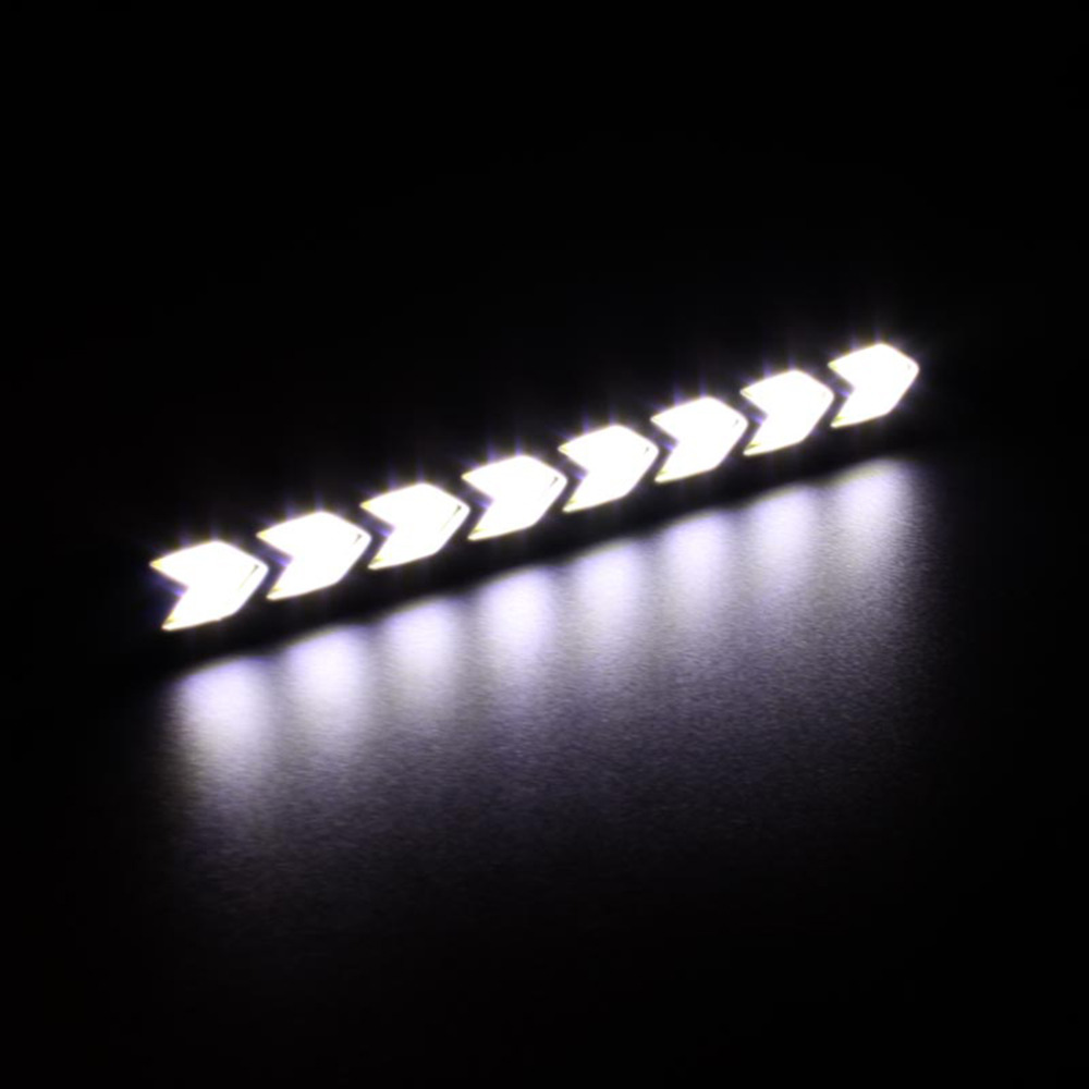 Flexible Rubber 2pcs Arrow Shape Bendable Led Daytime Running Light COB DRL Flexible Rubber LED Car DRL fog Driving Lamp 6w 12 V flexible 3w 132lm 6 smd 5050 led white car decorative daytime running light 12v 2 pcs
