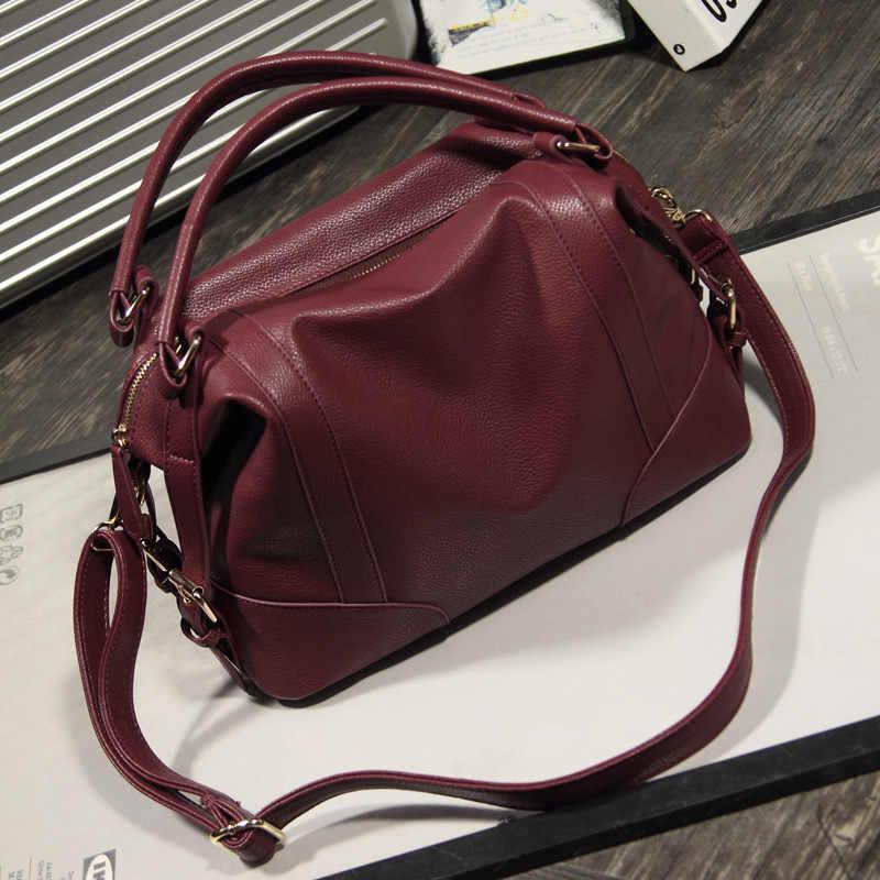 LKX New Women Fashion Top-handle Mujer Ladies Handbags Casual Tote Big  Shoulder Bag For 07f00964a3729