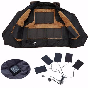 1 Set USB Electric Heated Jacket Heating Pad Outdoor Themal Warm Winter Heating Vest Pads for DIY Heated Clothing