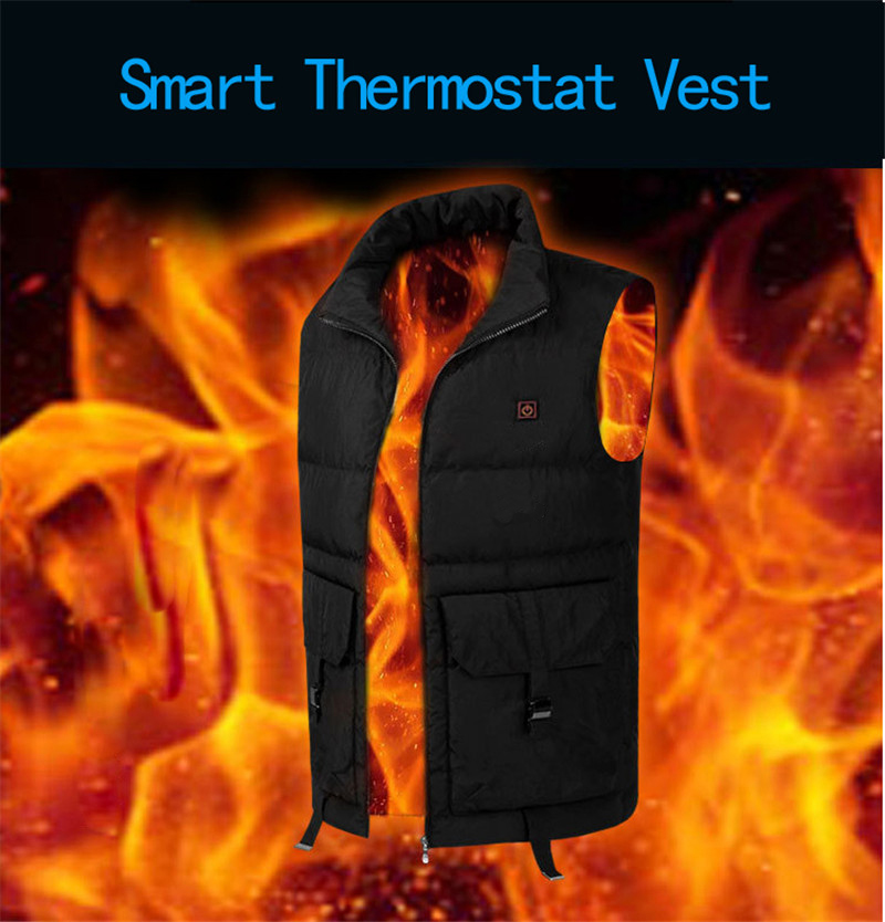Patent product Winter Carbon fiber Heating Vest Electric Heated Jacket For cold weather Outdoor work Fishing