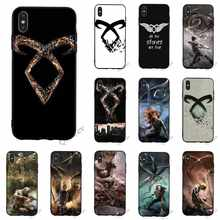 Patroon Mortal Instruments Telefoon Case voor iPhone SE Cover X XR 5 7 8 Plus 6 6S 5S xs Max Terug(China)
