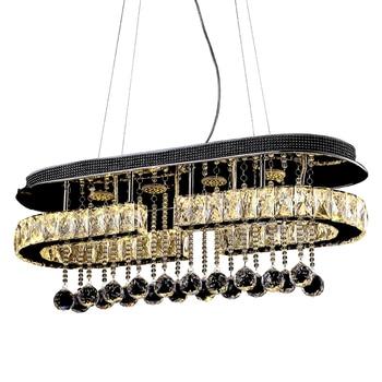 Yemek odası dikdörtgen kristal LED tavan lambaları oturma odası ev modern kısa tavan ışık ZA912620