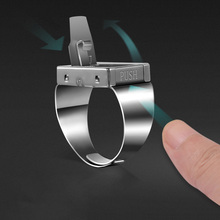 Zodiac series pattern finger blade self-protection ring protective blade self-protection product female concealed weapon self-pr