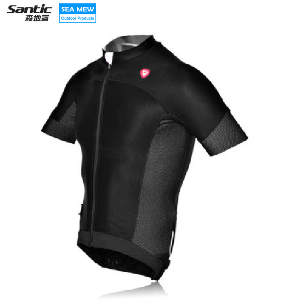 Santic NEW cycling jersey MTB maillot ciclismo Downhill ropa ciclismo hombre Antislip Sleeve Cuff skinsuit Short Sleeve Jersey наземный низкий светильник favourite leon 1814 1f