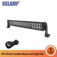 "Oslamp 4D 22 ""120 Watt Led-lichtleiste Offroad Combo Strahl Auto Led Work 12000LM Fahrlicht für Jeep Boot 4x4 4WD Wagon DC 12 v 24 v"