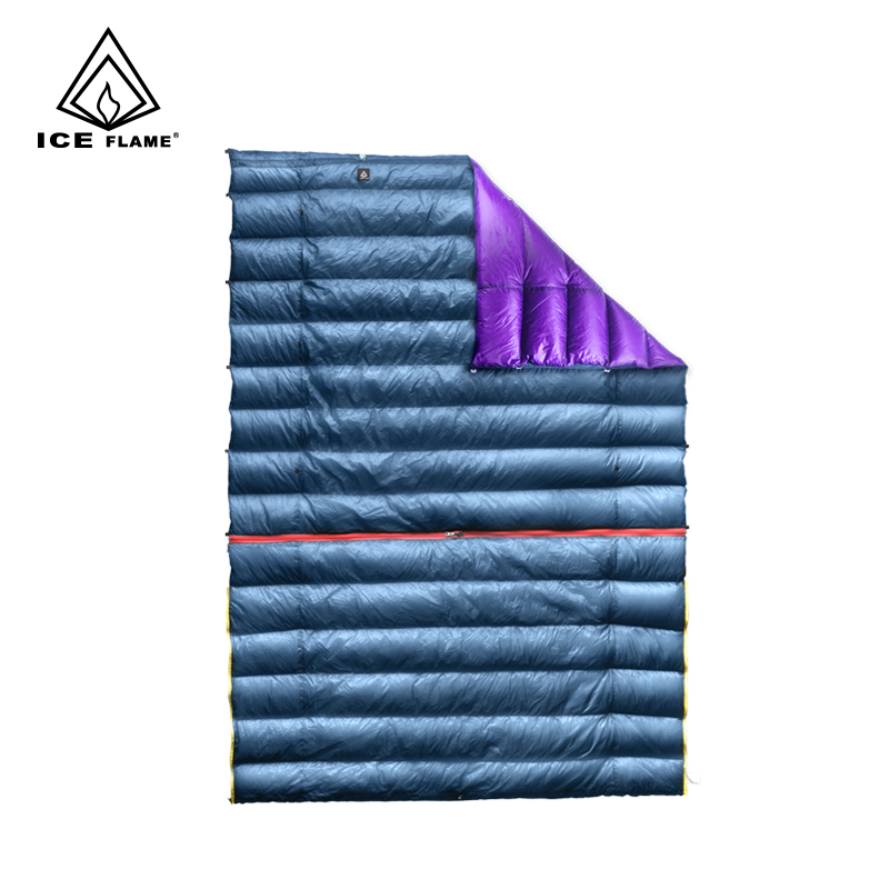 Ice Flame 7D 90 White Goose Down 3 Season Wearable Detachable Sleeping Bag Blanket Quilt Underquilt