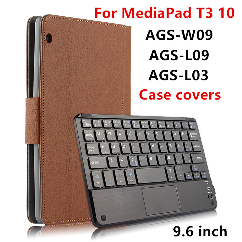 Case For Huawei MediaPad T3 10 Protective Covers Bluetooth keyboard Protector Leather PU Tablet ags-w09 l09 l03 Cases 9.6 inch case for huawei mediapad t3 10 ags w09 ags l09 ags l03 9 6 inch tablet cover cases protective pu leather protecto sleeve covers