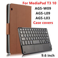 Case For Huawei MediaPad T3 10 Protective Covers Bluetooth Keyboard Protector Leather PU Tablet Ags W09