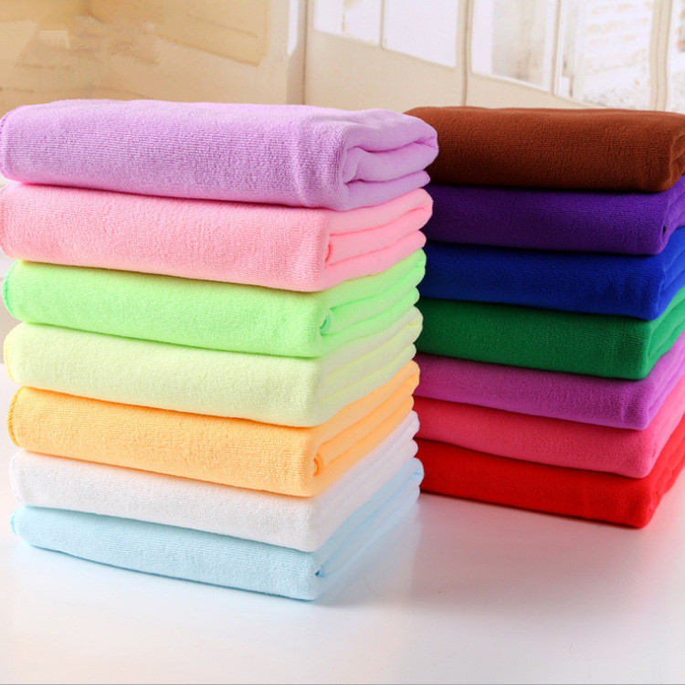 hot sale cheap price pure color super soft water aborsbent 70x140cm cloth 100 microfiber fabric. Black Bedroom Furniture Sets. Home Design Ideas
