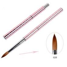 Дизайн ногтей, ручка с кисточкой стразы Алмазная Металлическая Ручка Акриловая УФ-гель Расширение строитель лепесток цветок Рисование кисти инструменты для маникюра