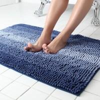 60x90CM Hot Melt Adhesive Chenille Microfiber Stripe Gradient Bath Mat Toilet Floor Mats