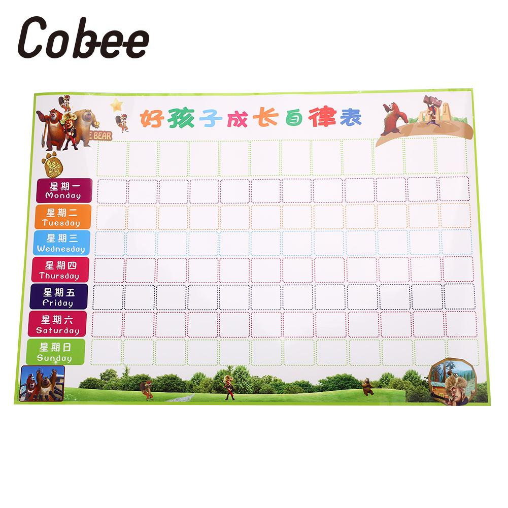 ChildrenS Behaviour Chart Behavior Chores Chart Children Reward Chart EVA School Universal Study Foldable Reusable