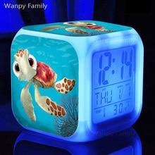 Hit Film Finding Nemo Alarm Clocks,Very cute sea turtle Alarm Clocks for Children's Birthday Gift toy alarm clock