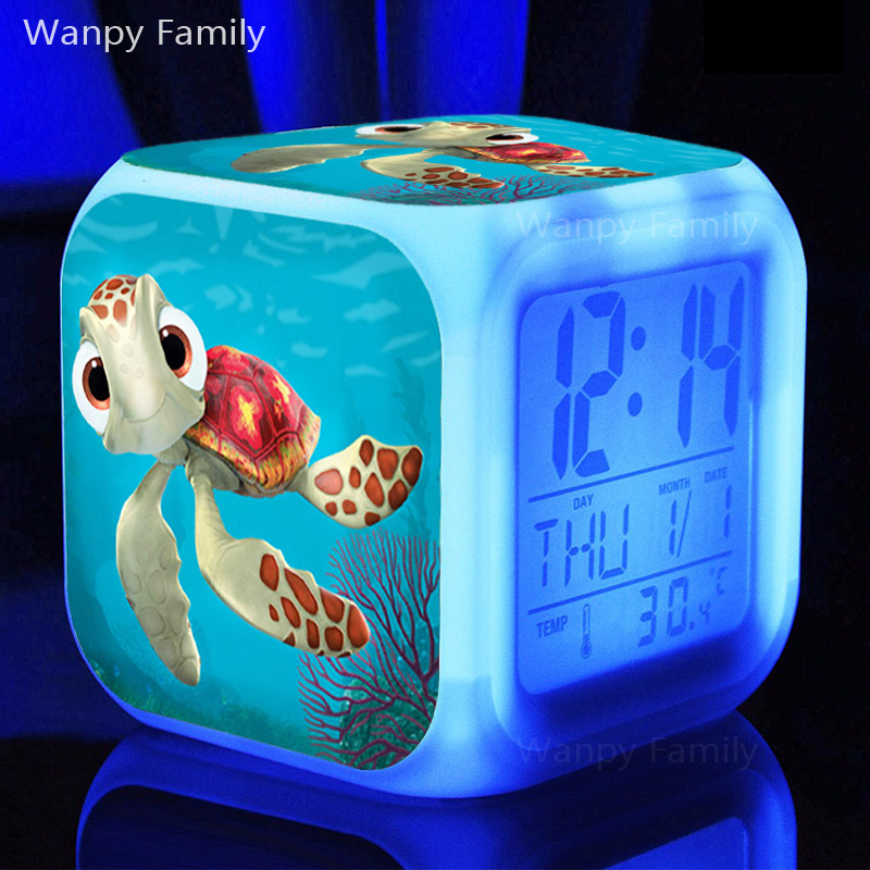 Hit Film Finding Nemo Alarm Clocks,Very cute sea turtle Alarm Clocks for Childrens Birthday Gift toy alarm clock