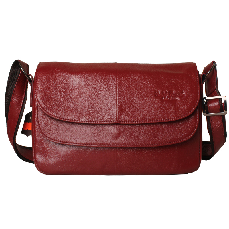 2018 Fashion All-match Women's Messenger Bag 100% Genuine Leather Handbags cowhide shoulder crossbody bags for women A-587 new style lock catch diamond lattice chain women messenger bags fashion all match shoulder bags soft genuine leather women bag