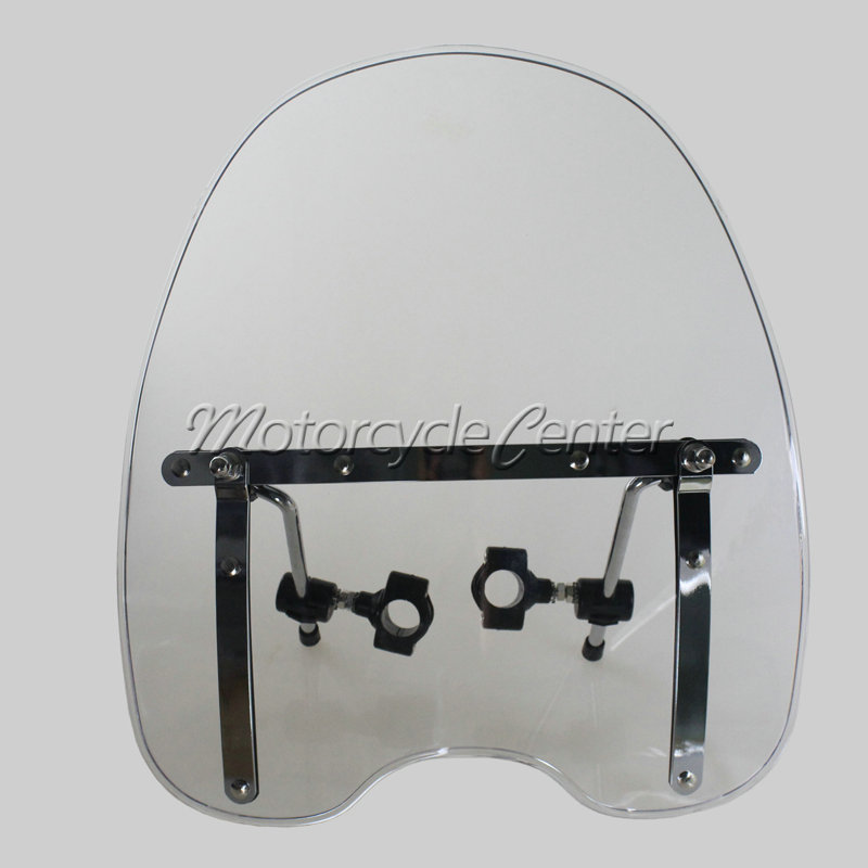 Transparent Motorcycle Windscreen Windshield For Harley Dyna Wide Glide FXDWG EFI FXDWGI Switchback FLD Low Rider