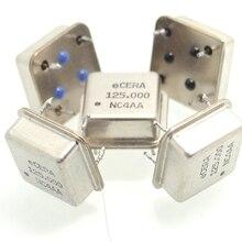 Inline active crystal oscillator 125MHZ square 125.000MHZ half size (5pcs/lot)