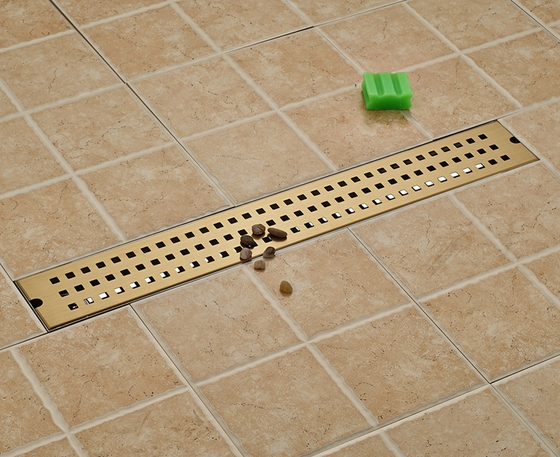 Modern Golden 70cm Bathroom Floor Drain Ground Leakage Shower Room Grate Waste free shipping deodorant floor waste drain oil rubbed bronze 10cmshower floor cover sink grate