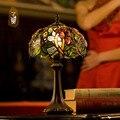 Luxuoso Antigas Lâmpadas de mesa de Cabeceira Sala de estar Decoração candeeiro de Mesa Tiffany Lâmpadas E14