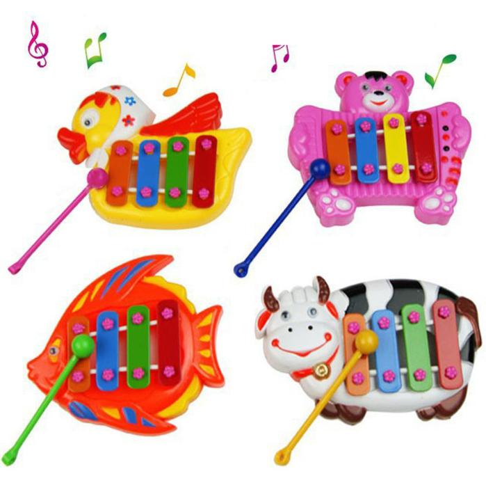 Kids Toy Top Sale Kids Baby Musical Educational Animal Plastic Developmental Music Bell Toy Christmas Talent For Music Gift