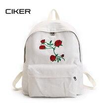 CIKER femmes toile sac à dos mignon de mode d'impression sacs à dos femmes de voyage sacs mochila sac à dos épaule sac 2 pcs/ensemble