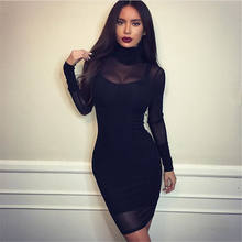 Vadim Real Dress Free Shipping 2019 Summer Night Shop Clothing High Collar Long Sleeve Two-piece(China)