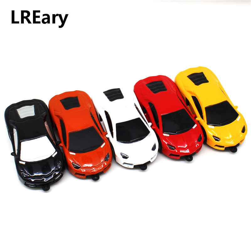 Super Sports Car 128MB USB Flash Drive Mini Pen Drive 32GB 16GB Memory Stick Pen Metal Lamborghini Model 4GB/8GB PenDrive 64GB