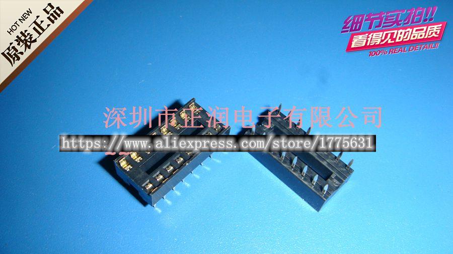 10pcs/lot IC Socket Base 16P Circuit Chip Holder DIP16 Pin Socket 16P In Stock
